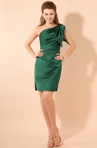 Impressive Asymmetrical One-Shoulder Bodycon Dress With Side Ruching