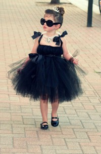 Sleeveless Bow Strap Empire Waist Tulle Ball Gown With Satin Sash