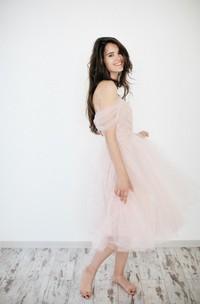 Off-Shoulder A-Line Organza Wedding Dress With Ruching