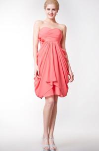 Sweetheart Empire Chiffon Bridesmaid Dress with Tulip Skirt