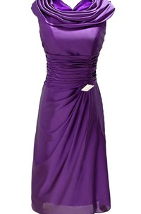 Sleeveless A-line Dress With Ruffles and Brooch