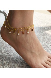 Summer Hot Fashion Double Star Anklet