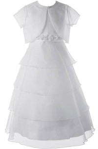 Sleeveless Tiered Dress With Jacket Style