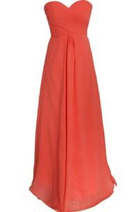 Sweetheart A-line Chiffon Dress With Criss-cross Ruching