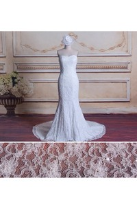 Mermaid Strapped Sweetheart Lace Satin Dress With Beading Sequins