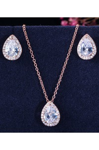 Multiple Color Bridal and Cocktail Party Rhinestone Necklace and Earrings Jewelry Set