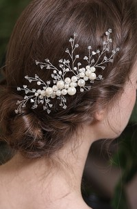 Simple Style Hair Combs with Crystal