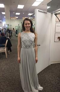 Elegant Beadings Tulle Jewel Prom Dress 2018 A-line Sleeveless