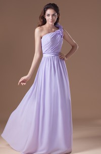 Ruched Ethereal Soft Flowing Fabric Maxi Dress With Floral Strap