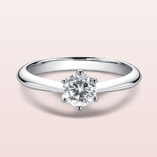 Solitaire Round Cut 925 Silver Wedding Rings