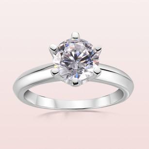 Classic Round Cut 925 Silver Wedding Rings