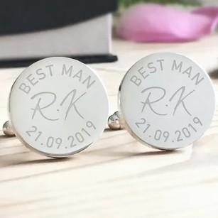 Engraved Best Man Cufflinks
