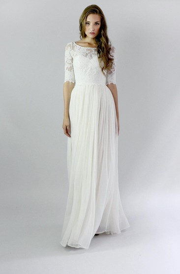 Casual Lace Wedding Dress Informal Lace Bridal Gowns June Bridals